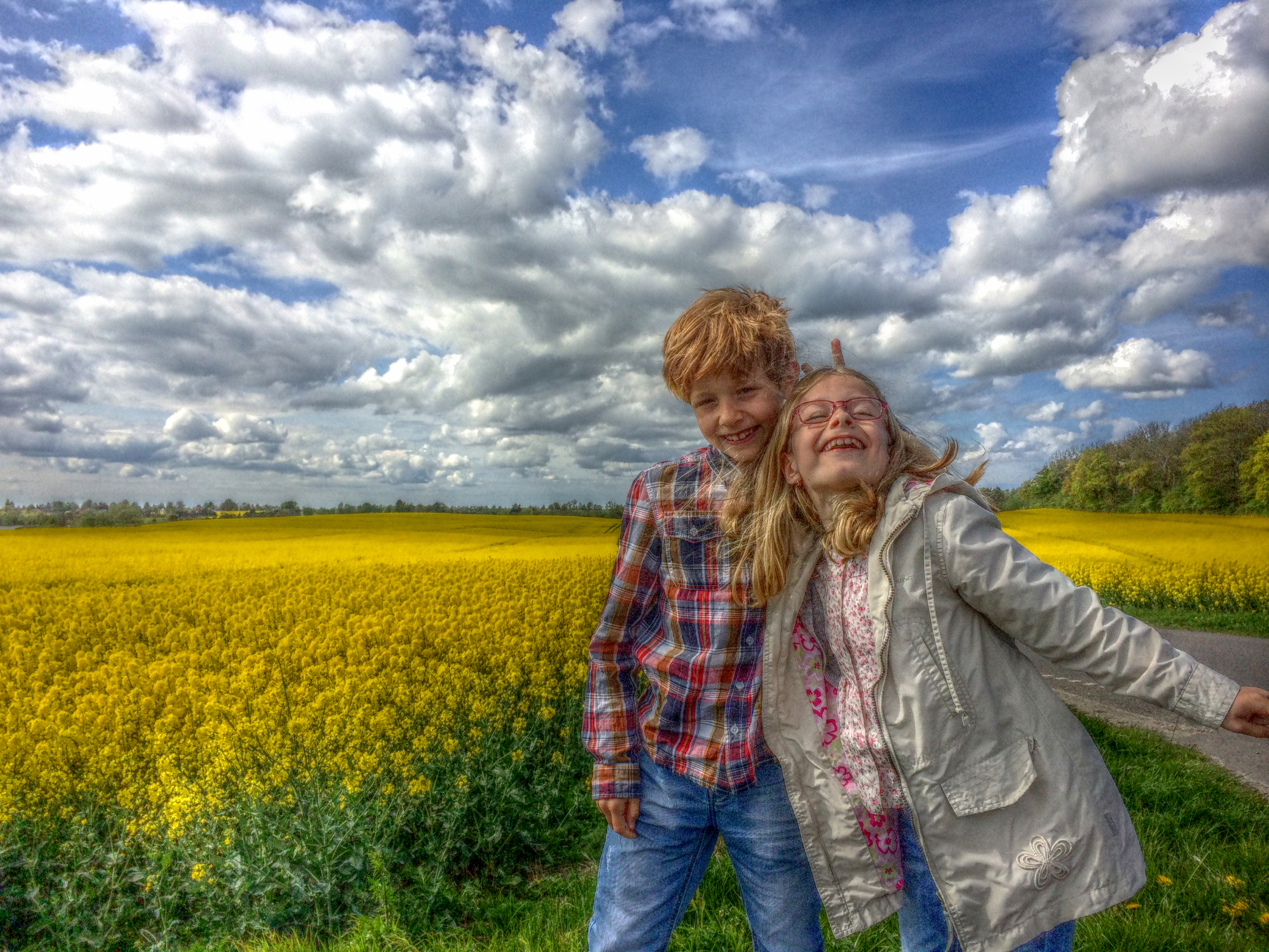 Children at rape fields